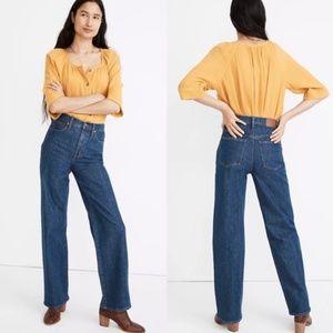 Madewell Slim Wide-Leg Full-Length Jeans in Birley
